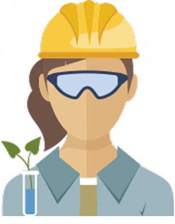 Female Science worker icon